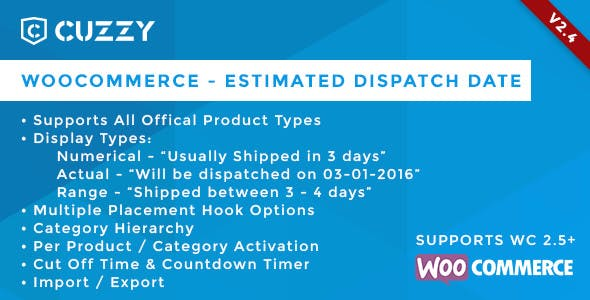 WooCommerce - Estimated Dispatch Date - CodeCanyon Item for Sale