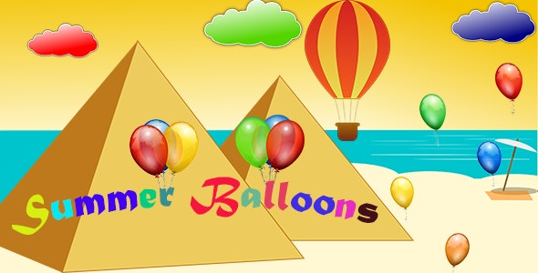Summer Balloons - HTML5 Mobile Game (Capx) - CodeCanyon Item for Sale