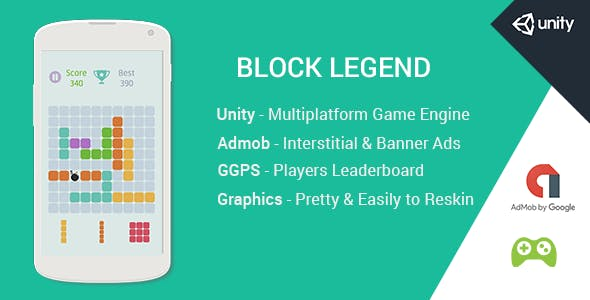 Block Legend - Unity Android Game Template