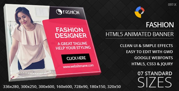 Fashion - HTML5 ad banners - CodeCanyon Item for Sale