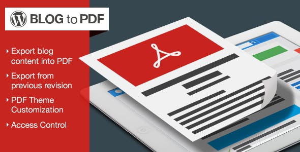 Blog to PDF Plugin for WordPress
