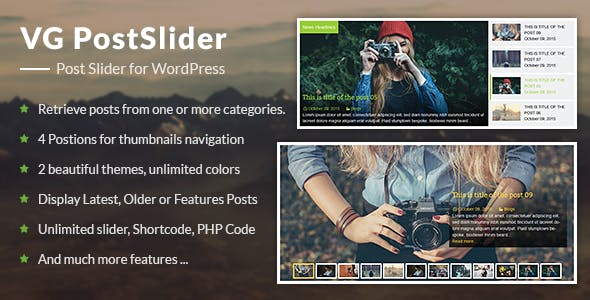 VG PostSlider - Post Slider for WordPress