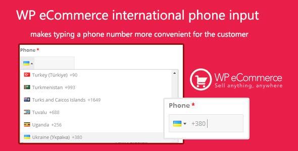 WP eCommerce international phone input