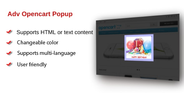 Adv Opencart Popup - CodeCanyon Item for Sale
