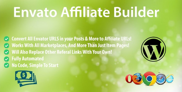 Envato Affiliate Builder - CodeCanyon Item for Sale