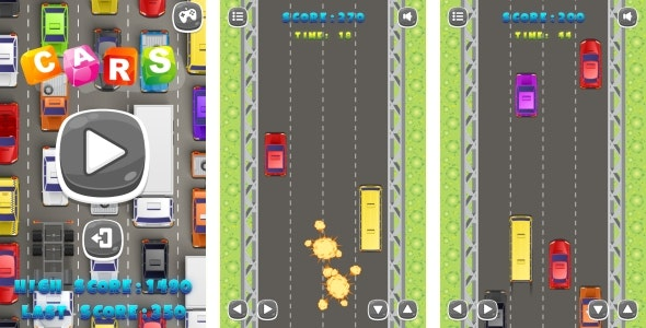CARS - HTML5 Game + Android + AdMob (Construct 3 | Construct 2 | Capx) - CodeCanyon Item for Sale