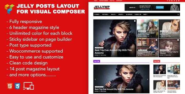Jelly Posts Layout for Visual Composer - CodeCanyon Item for Sale