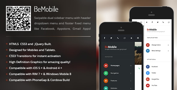 BeMobile | Menu Pack for Mobiles & Tablets - CodeCanyon Item for Sale