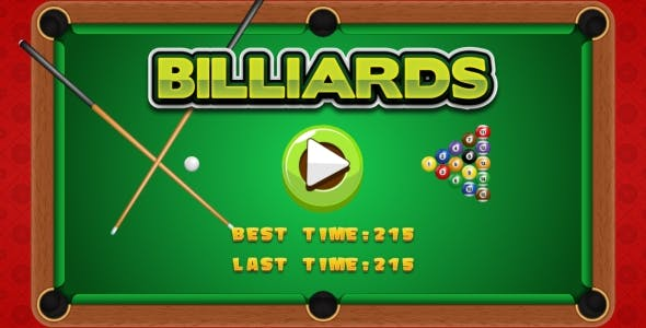 Billiards - HTML5 Game + Android + AdMob (Construct 3 | Construct 2 | Capx)
