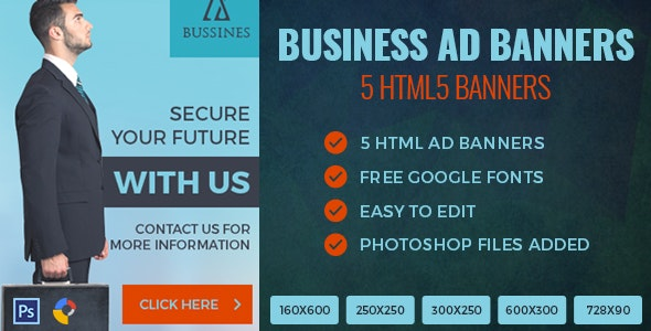 Business - HTML5 Ad Banner - CodeCanyon Item for Sale