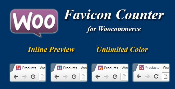 Woocommerce Favicon Counter