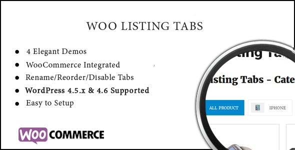 Listing Tabs - Responsive WooCommerce Tab Plugin