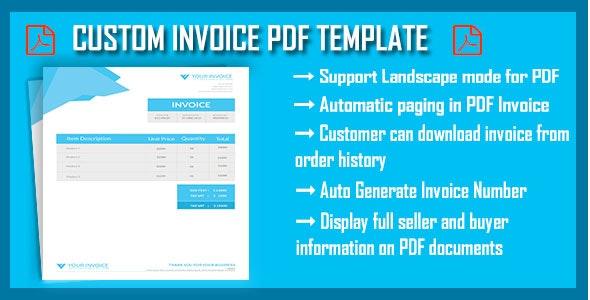 Custom Invoice PDF - CodeCanyon Item for Sale