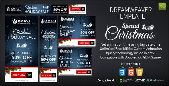 Special Christmas Dreamweaver Ads
