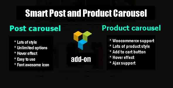 Smart  Post and Product Carousel - Visual Composer add-on