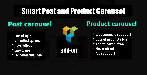 Smart  Post and Product Carousel - Visual Composer add-on - CodeCanyon Item for Sale
