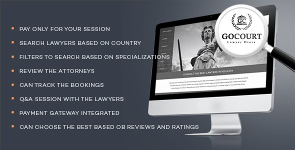 Online Lawyer Booking Solutions - GOCOURT - CodeCanyon Item for Sale