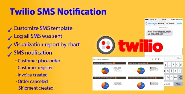 Magento 2 Twilio SMS Notification by xmage2 | CodeCanyon