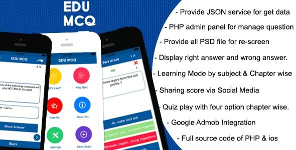 EDU MCQ Quiz - iPhone