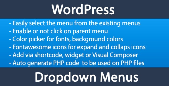 Wordpress menu dropdown - CodeCanyon Item for Sale