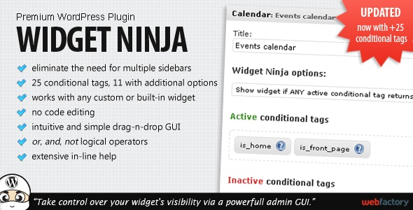 Widget Ninja - CodeCanyon Item for Sale