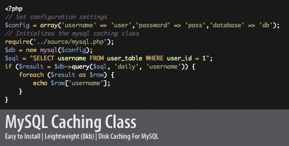 PHP MySql Caching Class