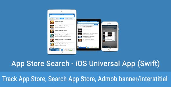 App Store Search - iOS Universal App (Swift)