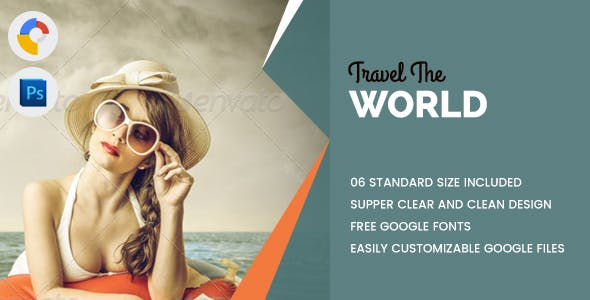 Travel World Banners HTML5 - GWD