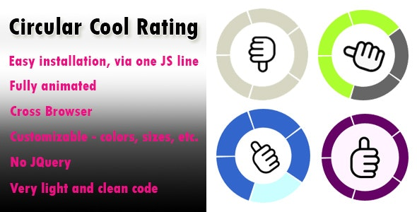 The Circular Rating - Cool & Attractive Animated Rating - CodeCanyon Item for Sale