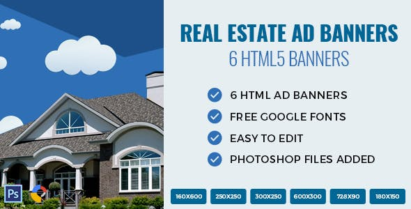 Real Estate - HTML Ad Banners