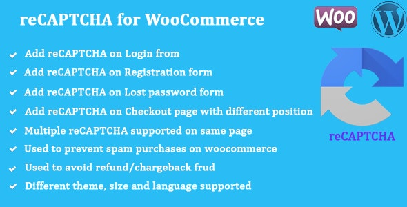 reCAPTCHA for WooCommerce - CodeCanyon Item for Sale