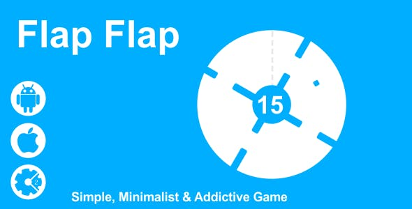 Flap Flap - Simple and Minimalist HTML5 Game