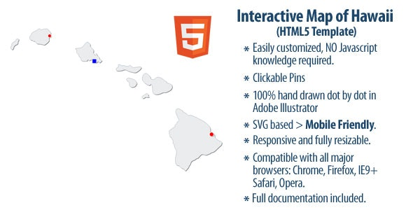 Interactive Map of Hawaii - CodeCanyon Item for Sale