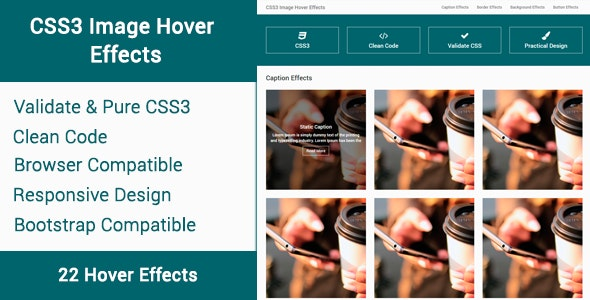 CSS3 Image Hover Effects - CodeCanyon Item for Sale