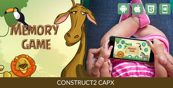 Memory Animal Game - HTML5 Game (Capx)