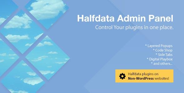 Halfdata Admin Panel