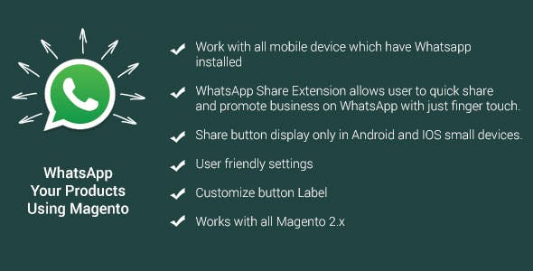 WhatsApp Share magento 2