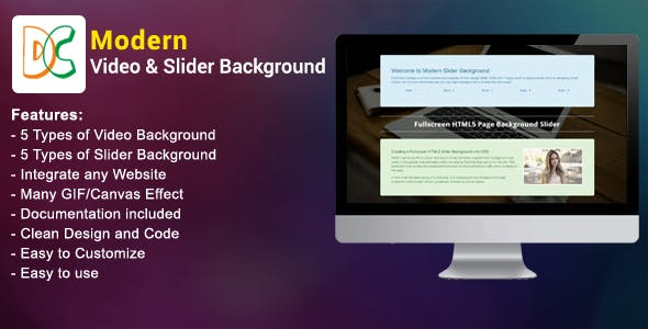 Modern Video and Slider Background