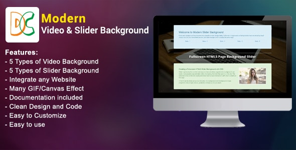 Modern Video and Slider Background - CodeCanyon Item for Sale