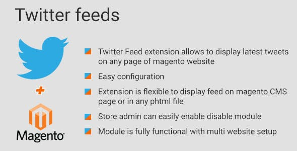 Twitter Feeds magento2 extension