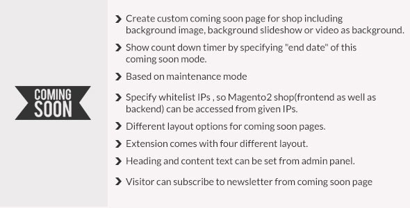 Coming soon page magento2 - CodeCanyon Item for Sale
