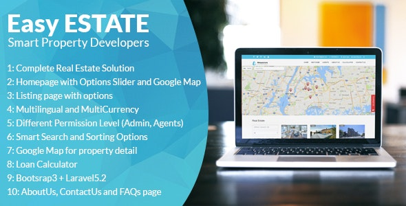 EasyEstate - Real Estate Portal - CodeCanyon Item for Sale