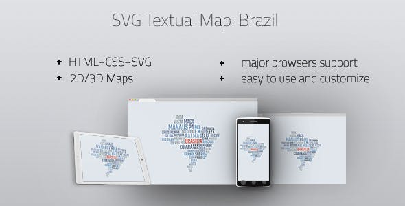 Interactive Textual Map Brazil