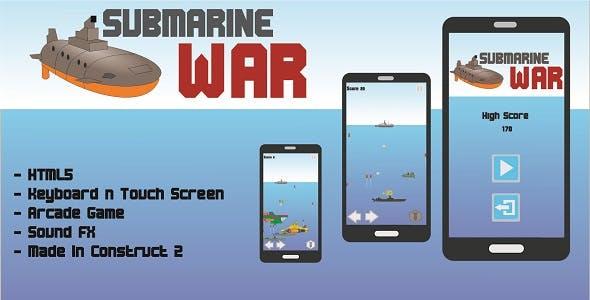 Submarine War - HTML5 Arcade Game