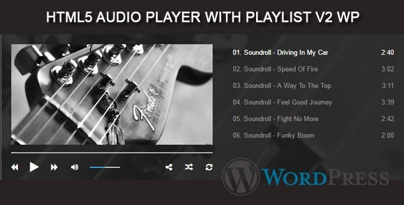 Audio Player with Playlist V2 WP Plugin - CodeCanyon Item for Sale