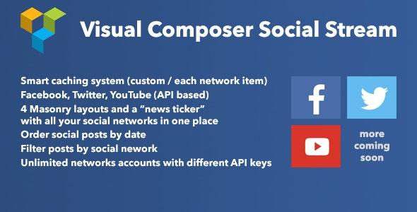 Visual Composer Social Stream - CodeCanyon Item for Sale