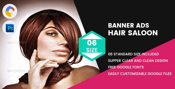 Hair Saloon Banner HTML5 - CodeCanyon Item for Sale