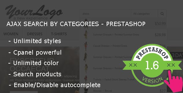 Ajax Search By Category - Premium Prestashop Module