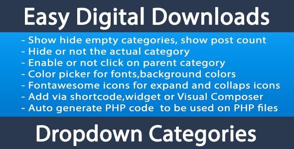 Easy Digital Downloads EDD categories dropdown
