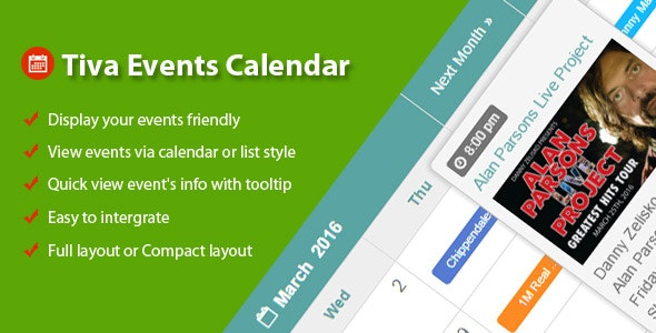 Tiva Events Calendar For Joomla - CodeCanyon Item for Sale